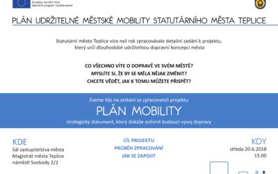 Setkání se zpracovateli projektu Plán udržitelné městské mobility Statutárního města Teplice